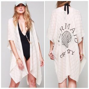 Mermaid Off Duty Kimono Beach Swim Cover Up